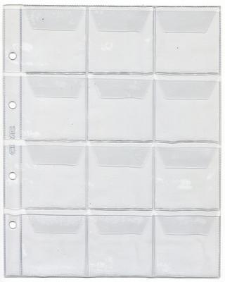 Лист для монет на 12 ячеек. 200 х 250 мм (Optima)