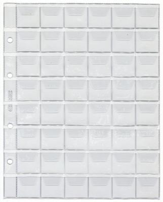 Лист для монет на 48 ячеек.  200 х 250 мм (Optima)