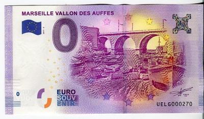Франция. Сувенирная банкнота 0 евро