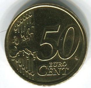 Латвия 50 евроцентов 2014 год