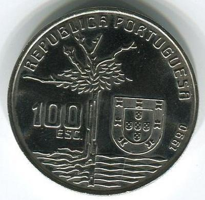100 эскудо 1990 год Камилу Каштелу Бранку — португальский беллетрист