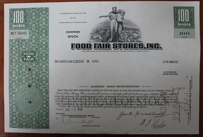 США.Акция Food Fair Stores,inc