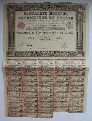 Облигация. 500 франков (Франция)