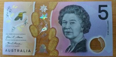 Австралия 5 долларов 2016 год