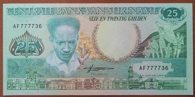 Суринам 25 гульденов 1988 год