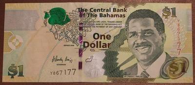 Багамские острова 1 доллар 2008 год