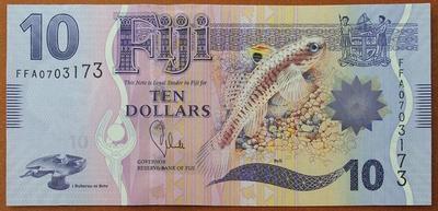 Фиджи 10 долларов 2012 год
