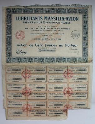 Франция акция 100 франков 1927 год