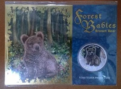 Тувалу 50 центов 2013 год Бурый Медведь
