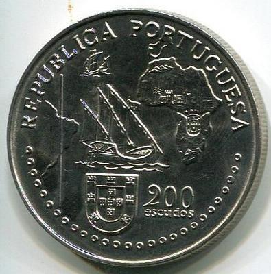 200 эскудо 1994 год 500-летие Тордесильясского договора
