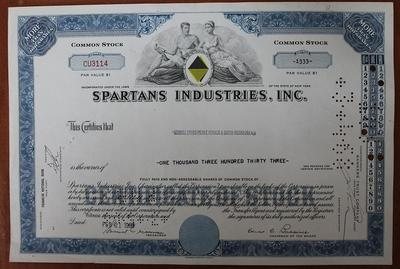 США.Акция.Spartans Industries,inc