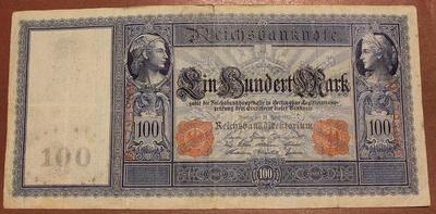 Германия 100 марок 1910 год