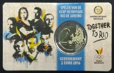 Бельгия 2 евро 2016 год Олимпийские игры в Рио
