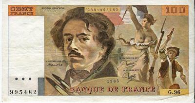 Франция 100 франков 1985 год
