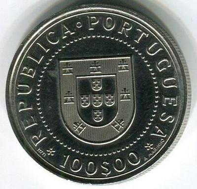 100 эскудо 1990 год 350-летие восстановления независимости Португалии