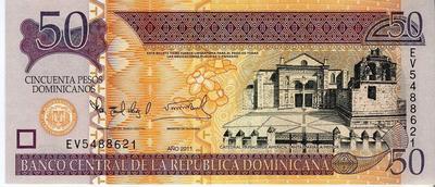Доминикана 50 песо 2011 год