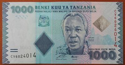 Танзания 1000 шиллингов 2010 год