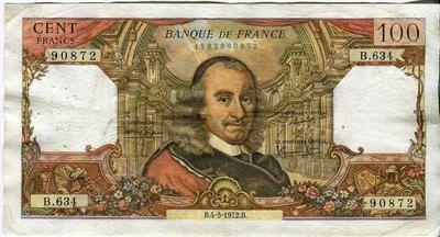 Франция 100 франков 1972 год