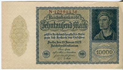 Германия 10000 марок 1922 год