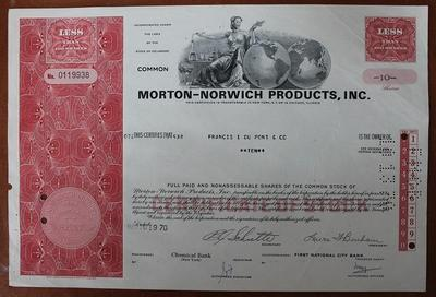 США.Акция Morton-Norwich products,inc