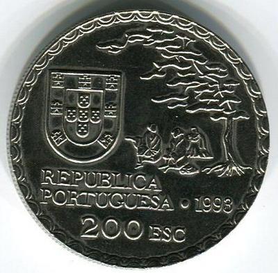 200 эскудо 1993 год Искусство Намбан