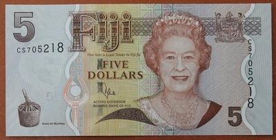 Фиджи 5 долларов 2007 год