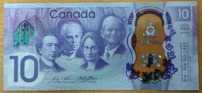 Канада 10 долларов 2017 год