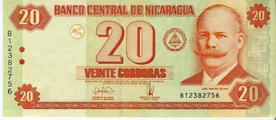Никарагуа 20 кордоба 2006 год