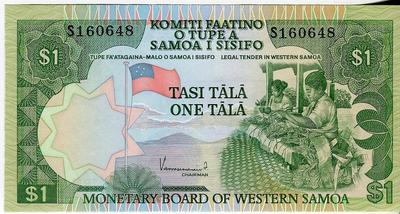 Западное Самоа 1 тала 1980 год