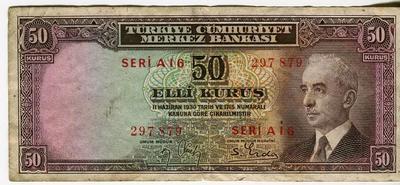 Турция 50 куруш 1930 год