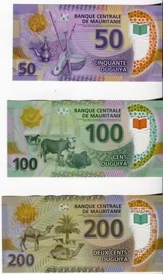 Мавритания 50,100,200 угий 2017 год