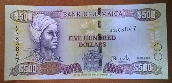 Ямайка 500 долларов 2009 год