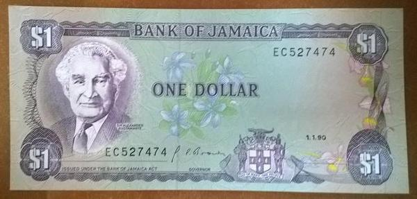 Ямайка 1 доллар 1990 год