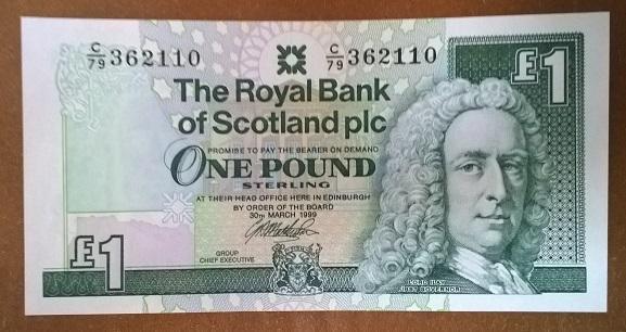 Шотландия 1 фунт 1999 год
