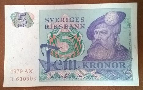 Швеция 5 крон 1979 год