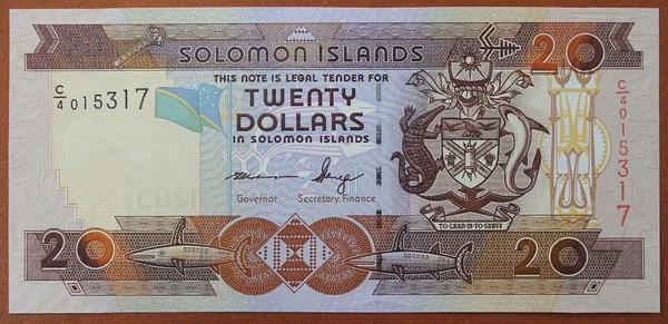 Соломоновы острова 20 долларов 2006 год