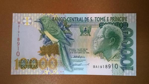 Сан-Томе и Принсипи 10000 добр 1996 год