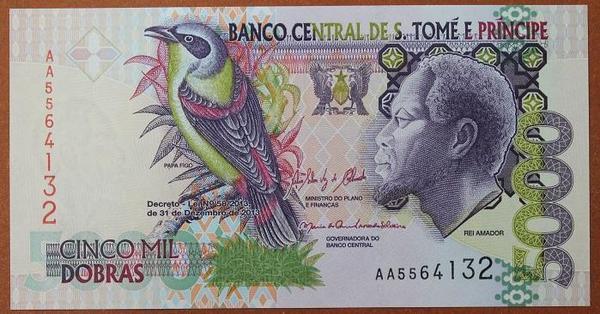 Сан-Томе и Принсипи 5000 добр 2013 год