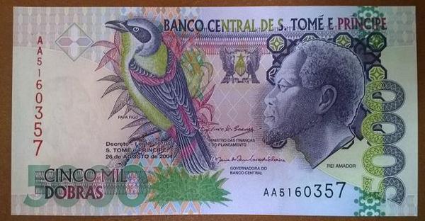 Сан-Томе и Принсипи 5000 добр 2004 год