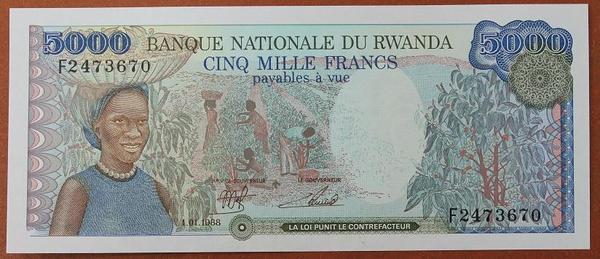 Руанда 5000 франков 1988 год