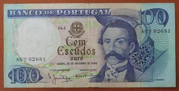 Португалия 100 эскудо 1965 год