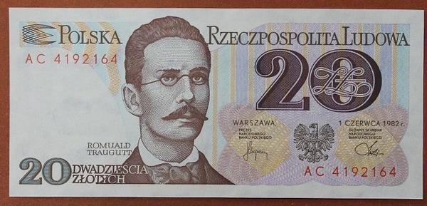 Польша 20 злотых 1982 год
