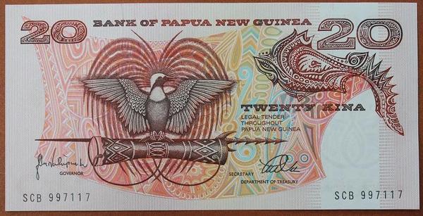 Папуа - Новая Гвинея 20 кина 1988 год