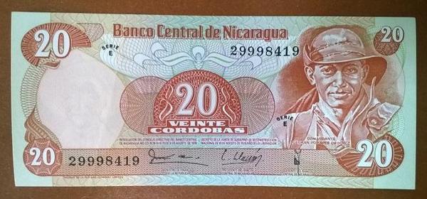 Никарагуа 20 кордоба 1979 год