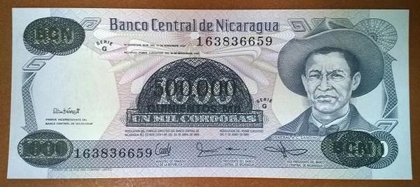 Никарагуа 500000 кордоба 1990 год