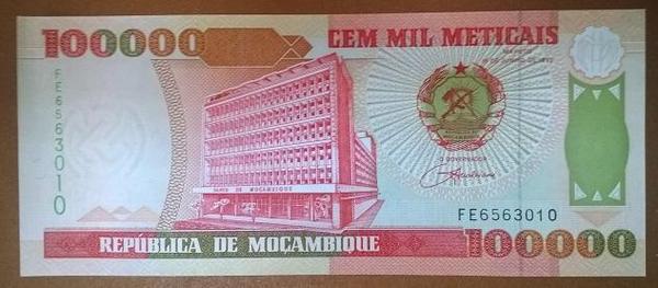 Мозамбик 100000 метикалов 1993 год