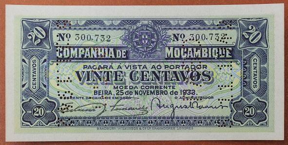 Мозамбик 20 сентаво 1933 год