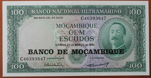 Мозамбик 100 эскудо 1961 год