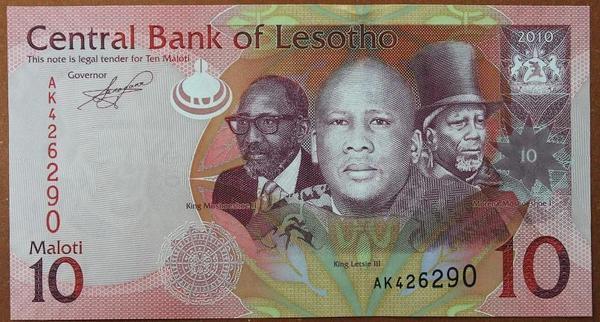 Лесото 10 малоти 2010 год
