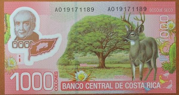 Коста-Рика 1000 колон 2009 год